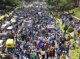 Protests at Sant Ravidas temple demolition