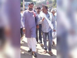 Yogendra Yadav with DMN Murthy
