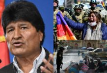 Massive anti coup protests in Bolivia