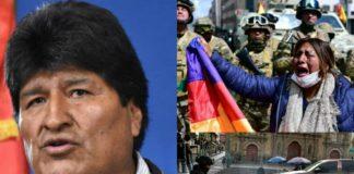 Massive anti coup protests in Bolivia