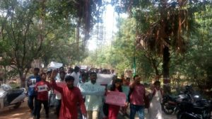 Hampi University students in solidarity with JNU students
