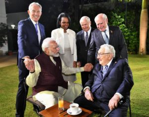 Modi meets kissinger and Tony Blair