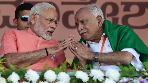 Modi and Yeddiyurappa