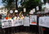 BSNL workers against SLA