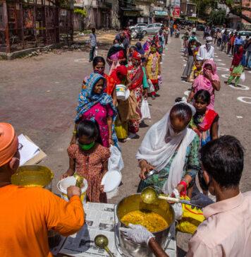 covid food lines delhi world bank