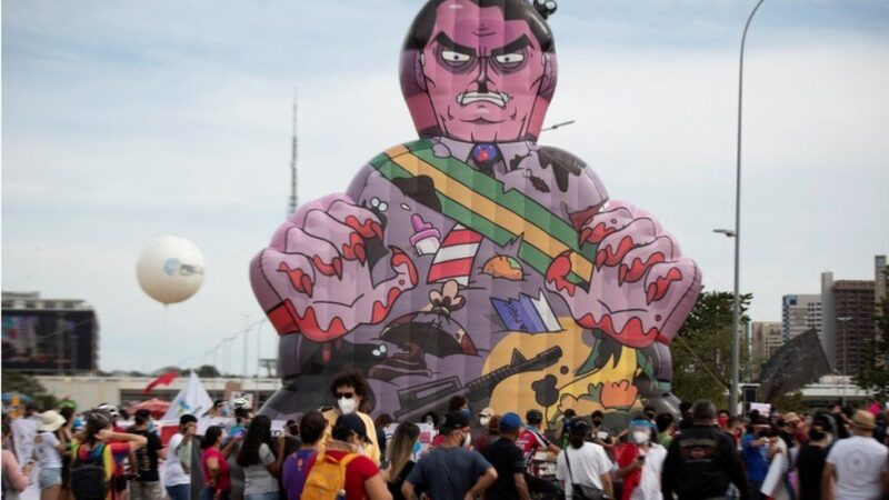 Puppet of Bolsonaro